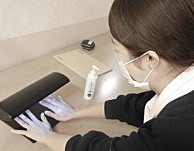 感染研修 手指消毒